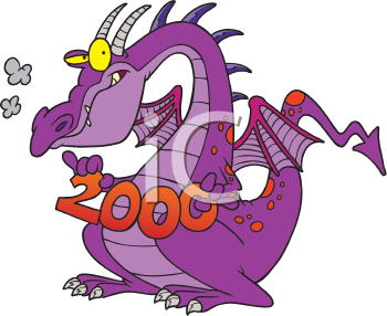 Royalty Free Clipart Image of a Dragon for 2000