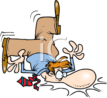 Royalty Free Clipart Image of a Face Plant