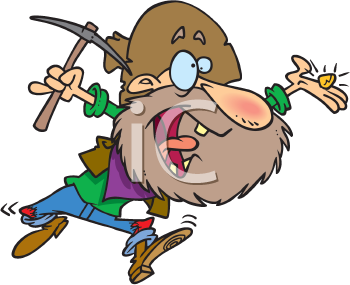 Royalty Free Clipart Image of a Prospector