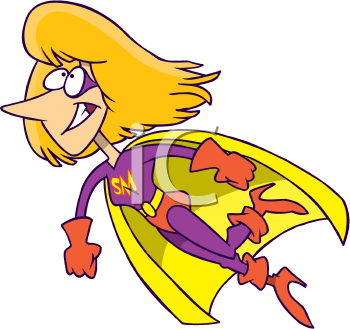 Royalty Free Clipart Image of Super Mom