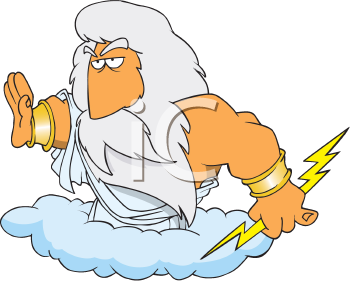 Royalty Free Clipart Image of Zeus
