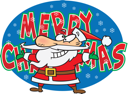 Royalty Free Clipart Image of a Merry Christmas Greeting