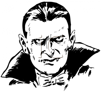 Royalty Free Clipart Image of Count Dracula