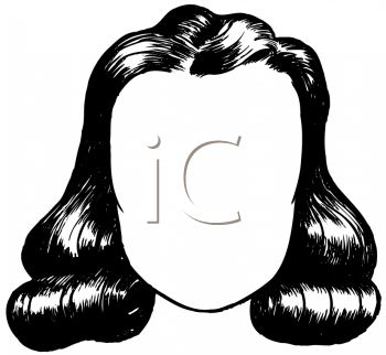 Royalty Free Clipart Image of a Woman's Hairstyle