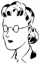 Royalty Free Clipart Image of a Spectacles Lady