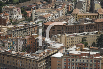 Royalty Free Photo of an Above View of a Cityscape in Rome, Italy