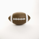 American football on white background.