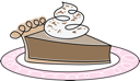 Royalty Free Clipart Image of a Chocolate Pie