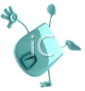 Royalty Free Clipart Image of Scales Doing a Handstand