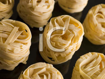 Royalty Free Photo of Dried Tagliatelle Nests