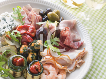 Royalty Free Photo of a Platter of Antipasto
