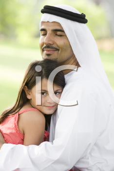 Royalty Free Photo of a Father and Daughter