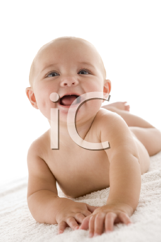 Royalty Free Photo of a Baby Lying Down