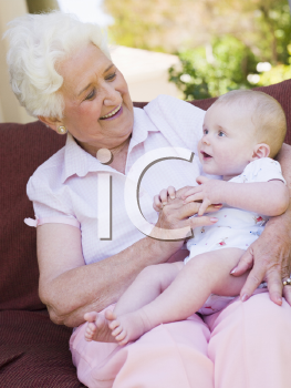 Royalty Free Photo of Grandma With a Baby