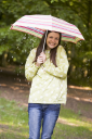 Royalty Free Photo of a Woman in the Rain