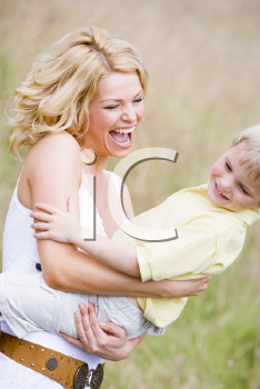 Royalty Free Photo of a Mother and Son