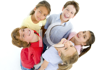 Royalty Free Photo of Circle of Children