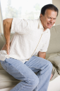 Royalty Free Photo of a Man With Back Pain