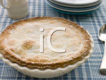 Royalty Free Photo of a Covered Pie