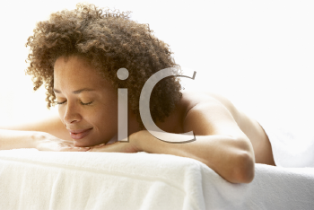 Royalty Free Photo of a Woman on a Massage Table