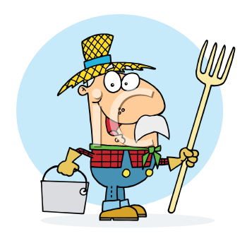 Royalty Free Clipart Image of a Farmer