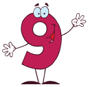 Royalty Free Clipart Image of a Nine
