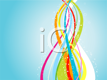 Abstract flowing lines background in rainbow colours
