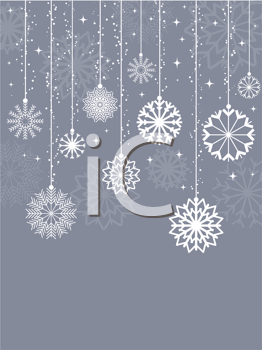 Decorative Christmas background with snowflake design