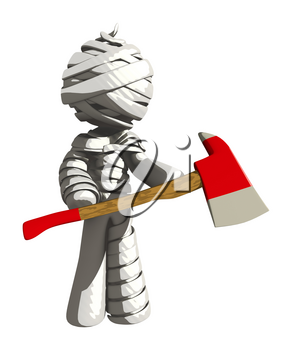 Mummy or Personal Injury Concept Ax Murderer