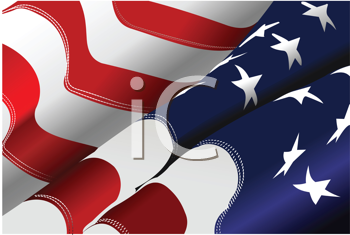 4th July – Independence day of United States of America. American flag. Vector