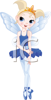 Royalty Free Clipart Image of a Fairy Ballerina