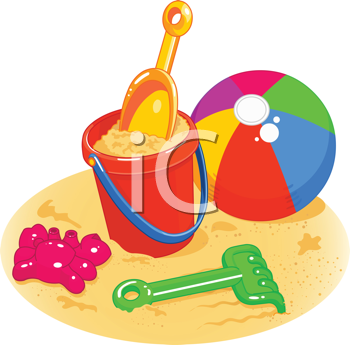 Royalty Free Clipart Image of Beach Toys