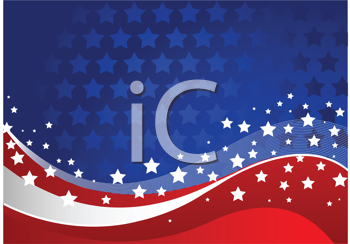 Royalty Free Clipart Image of an Independence Day Background