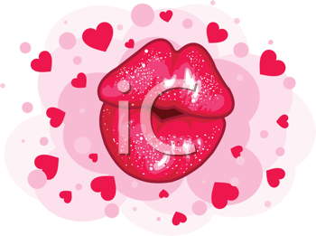 Love kiss design for Valentine�s Day