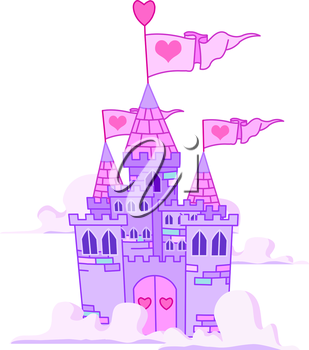 Royalty Free Clipart Image of a Fairy Tale Castle