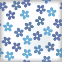 Royalty Free Clipart Image of a Blue Floral Tile