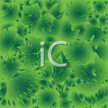 Royalty Free Clipart Image of a Green Leaf Background