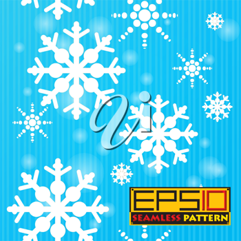Seamless pattern with falling snowflakes. Eps 10 with transparency effect.