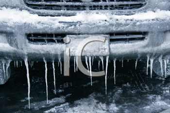 Royalty Free Photo of an Icy Bumper