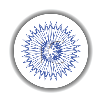 Royalty Free Clipart Image of a Snowflakes Medallion