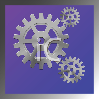 gear box composition, abstract vector art illustration