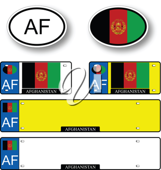 afghanistan auto set against white background, abstract vector art illustration, image contains transparency