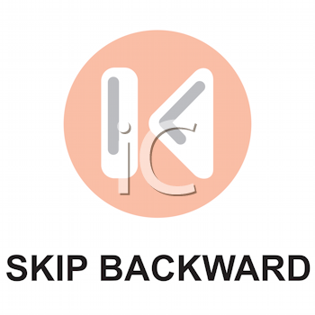 Royalty Free Clipart Image of a Skip Backward Button