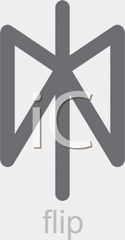 Royalty Free Clipart Image of a Flip Icon