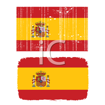 Royalty Free Clipart Image of Spanish Flags