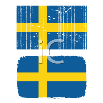 Royalty Free Clipart Image of a Swedish Flag
