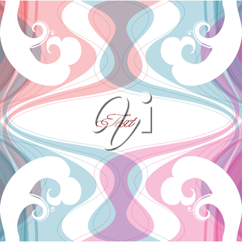 abstract waved pastel background