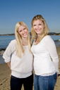 Royalty Free Photo of Women on the Beach