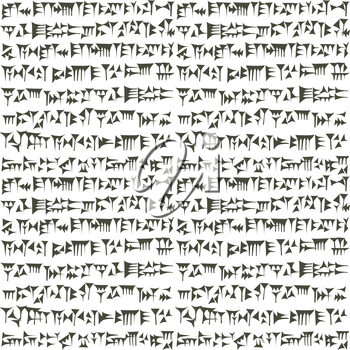 Ancient cuneiform assyrian or sumerian inscripton background