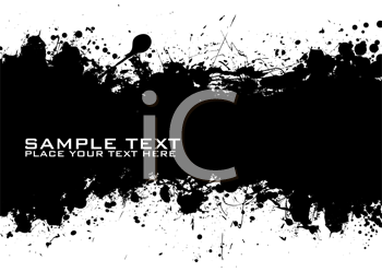 Royalty Free Clipart Image of an Inkblot With Space for Text